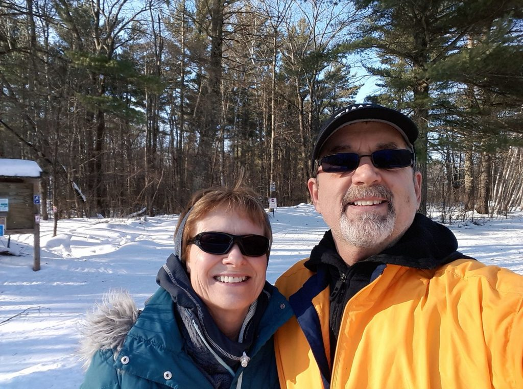 Cross country skiing near our place in Wisconsin - Meet Dr M