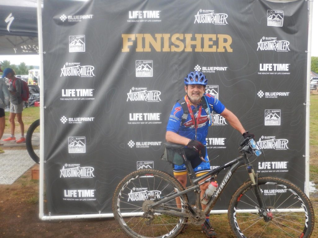Finish line at Austin Rattler 60 mile Mountain Bike Race - Meet Dr M