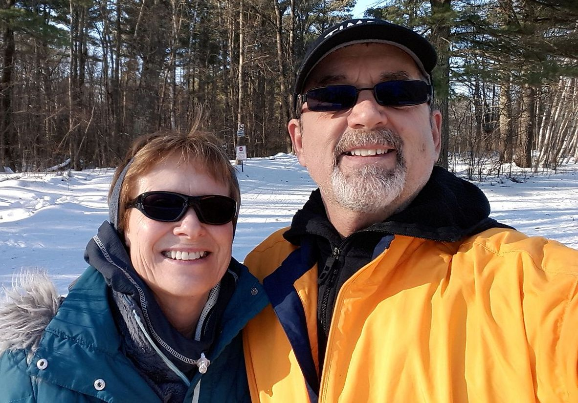Cross country skiing near our place in Wisconsin - Meet Dr. M