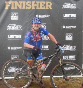 Finish line at Austin Rattler 60 mile Mountain Bike Race - Meet Dr. M